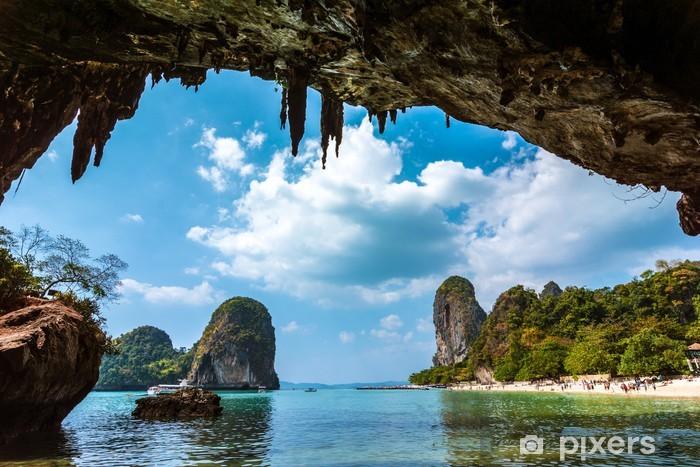 Fotomural Estándar Paraíso en la playa de Railay Tailandia - Temas