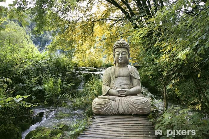 Bouddha et Bien-être Pixerstick Sticker - Monuments