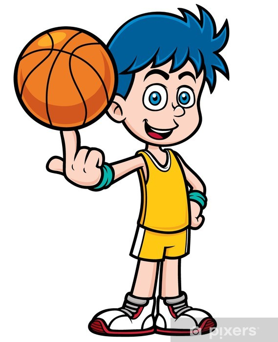 Fototapeta Vektorove Ilustrace Kreslene Basketbalovy Hrac Pixers