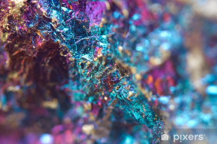 Abstract background from a metal mineral. Vinyl Wall Mural - Raw Materials