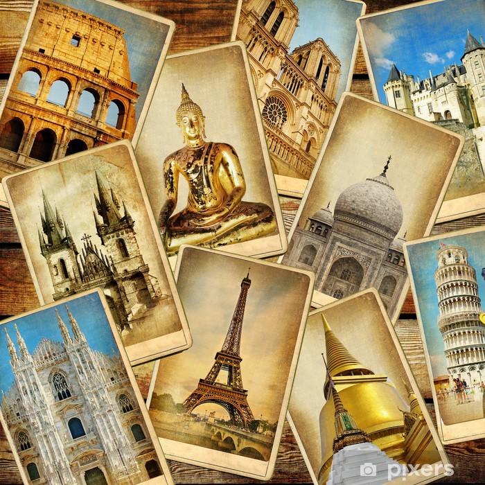 Papier peint vinyle Repères monde »- consepts de collage.travel cru - Vacances