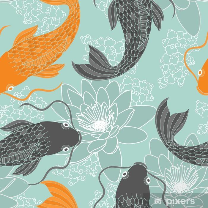 Chinese carps seamless pattern Pixerstick Sticker - iStaging 2