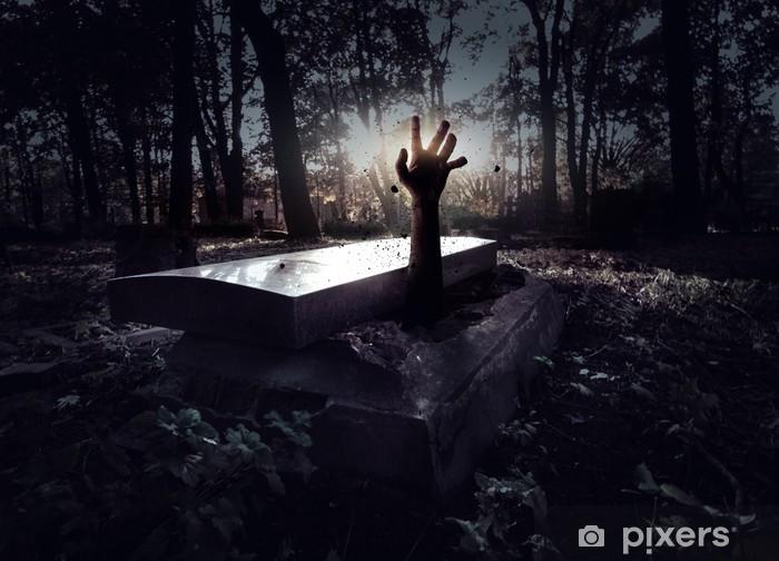 Papier peint vinyle Main surgissant de la tombe - Thèmes