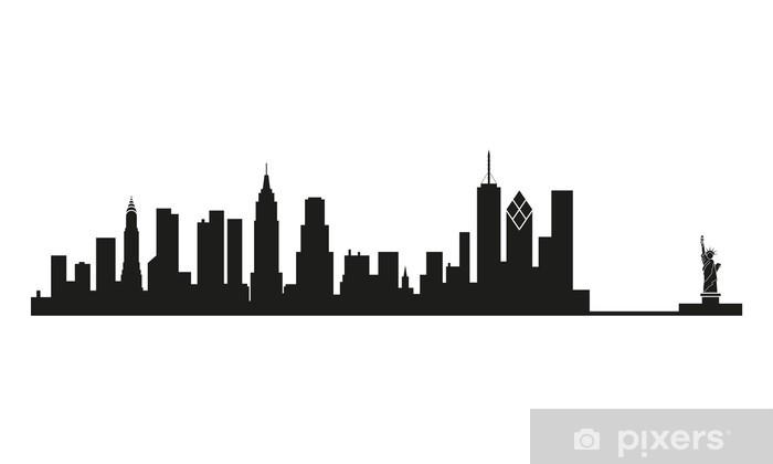 Fototapeta winylowa Panoramę Nowego Jorku - Naklejki na ścianę