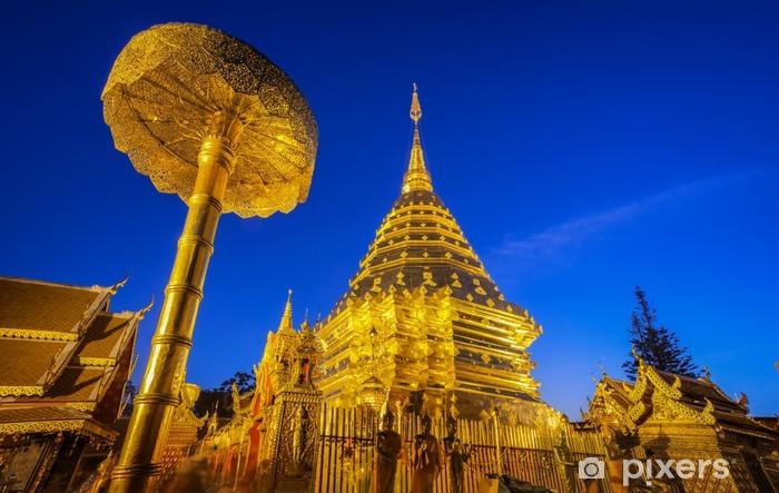 Naklejka Pixerstick Wat Phra That Doi Suthep. - Religie