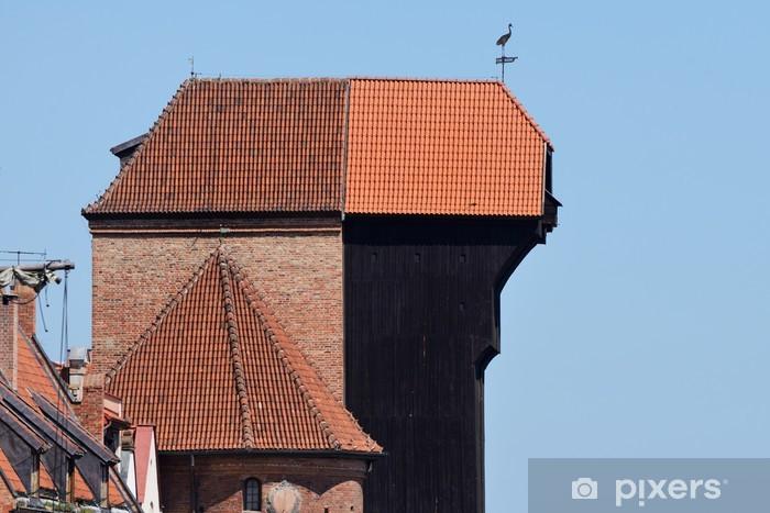 Naklejka Pixerstick Żuraw gdański nad motławą - Europa
