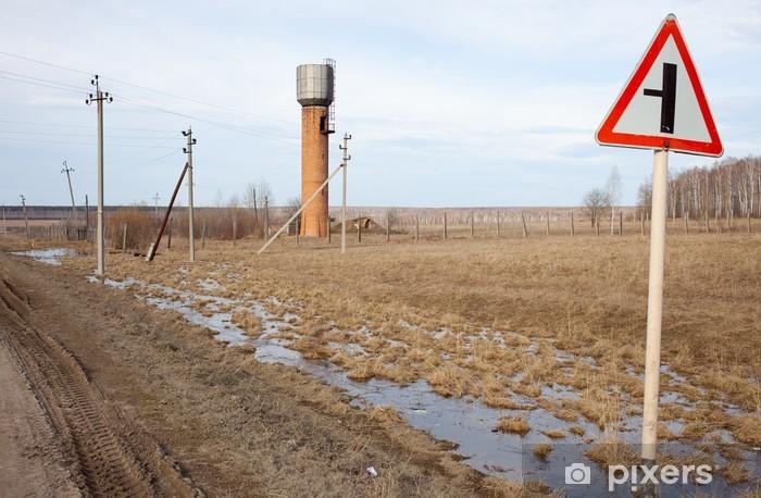 Vinylová fototapeta Rusku, na Urale, krajina s vodárenskou věží - Vinylová fototapeta