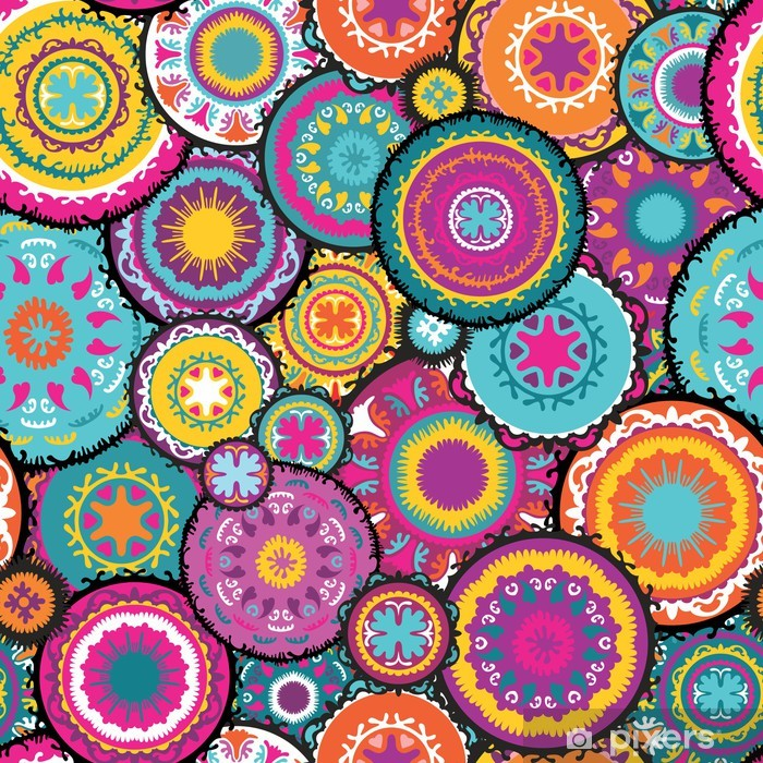 Pixerstick Aufkleber Marokkanische Vektor-Muster - Stile