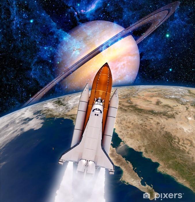 Space Shuttle Rocket Spaceship Vinyl Wall Mural - Styles