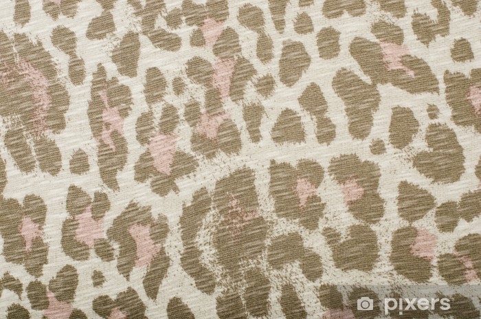 Brown And Pink Leopard Pattern Animal Print As Background Sticker