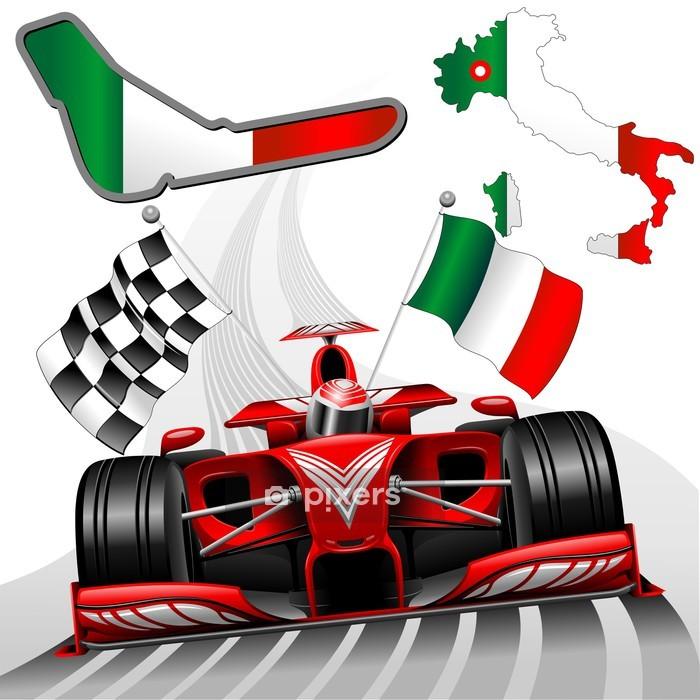 Poszewka na kołdrę Wyścig Formuły 1 Red Car GP Monza Włochy - Tematy