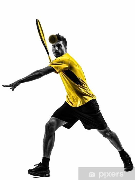 Fototapeta winylowa Tennis player sylwetka człowieka - Tematy