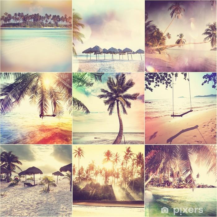 Naklejka Pixerstick Beach collage - Wakacje