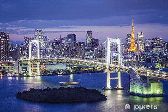 Naklejka Pixerstick Tokio, Japonia w Tokio Zatoka - Azja