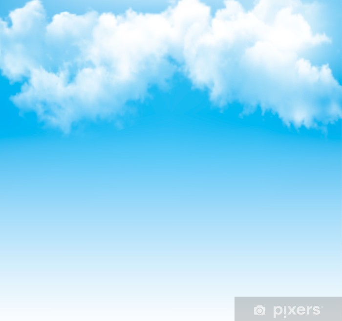 Naklejka Pixerstick Tło z jasnym błękitne niebo. Wektor. - Niebo