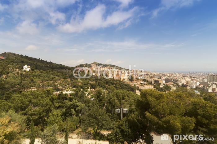 Vinyl-Fototapete Panorama-Blick auf Barcelona - Themen