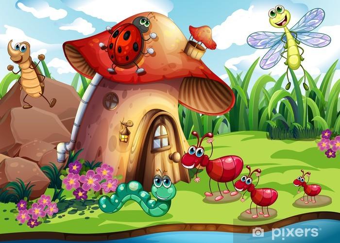 Sticker Pixerstick Insectes colonie - Autres Autres