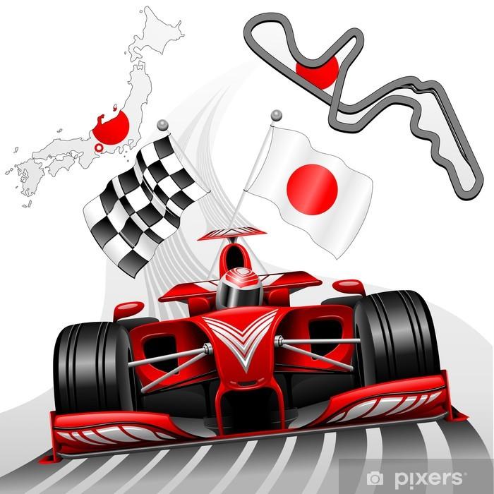 Formula 1 Race Car GP Suzuka Japan Vinyl Wall Mural - Themes