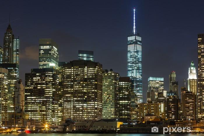 Carta Da Parati Grattacieli Di New York Centro Di Notte