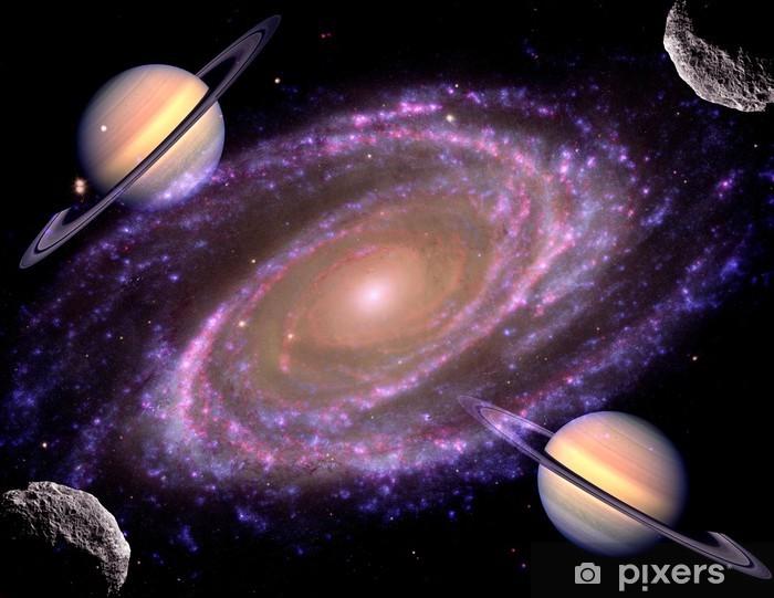 Spiral Galaxy Space Stars Vinyl Wall Mural - Planets