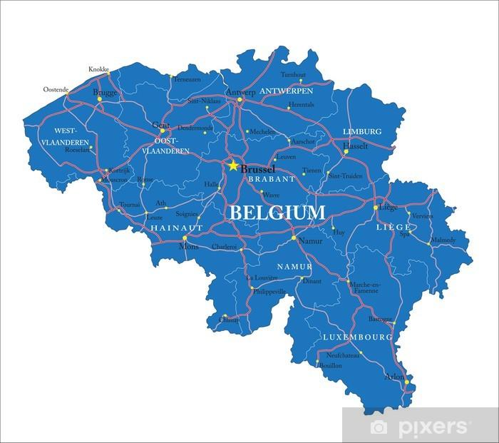 Cartina Del Belgio Da Stampare.Carta Da Parati Belgio Mappa Pixers Viviamo Per Il Cambiamento
