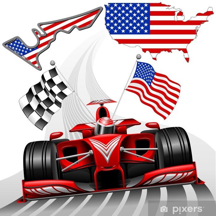 Papier peint vinyle Formule 1 Race Car GP Austin États-Unis - Thèmes