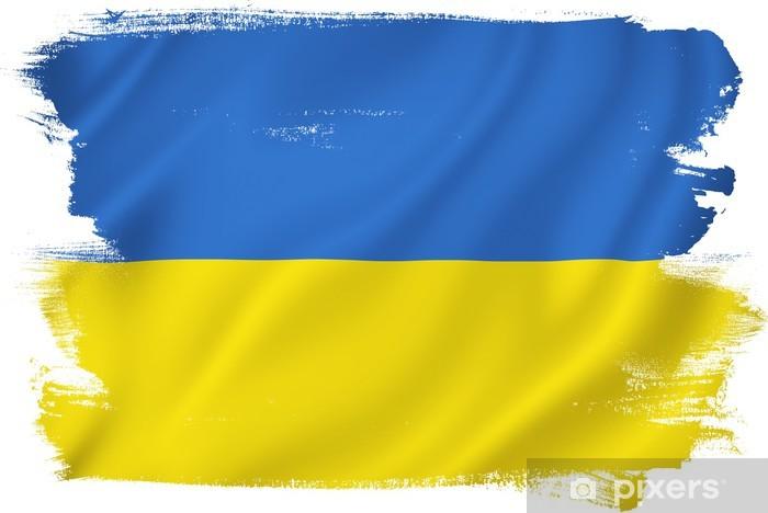 Adesivo Bandiera Ucraina • Pixers® - Viviamo per il ...