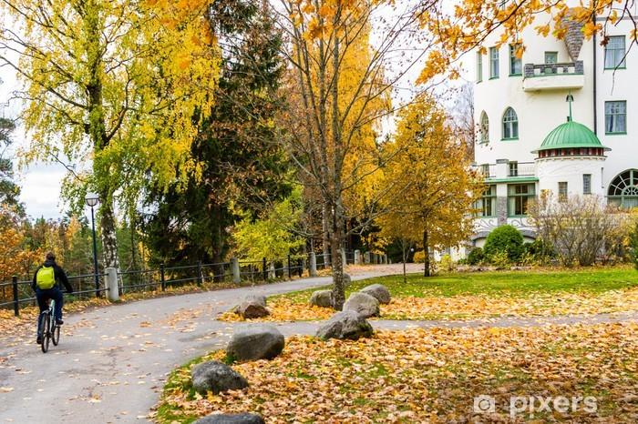 Fototapeta winylowa Jesienią ciclyng - Wakacje