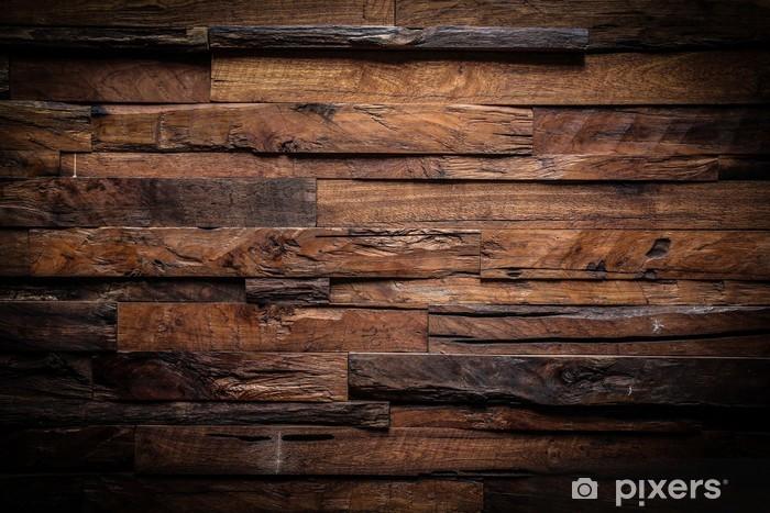 Papier peint vinyle Conception de fond sombre de bois - Thèmes