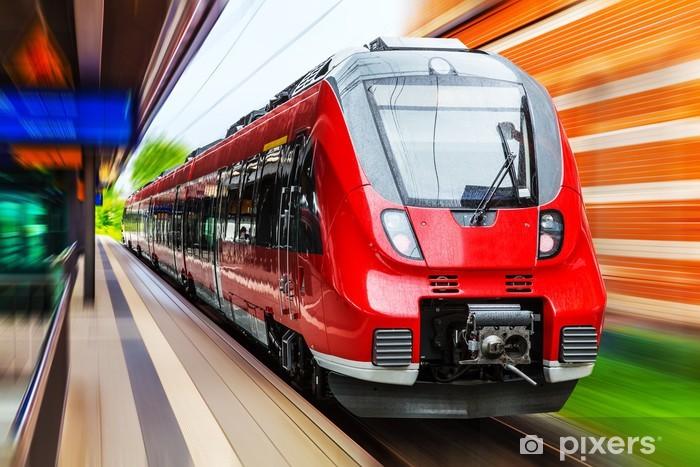 Carta da Parati in Vinile Moderno treno ad alta velocità - Temi