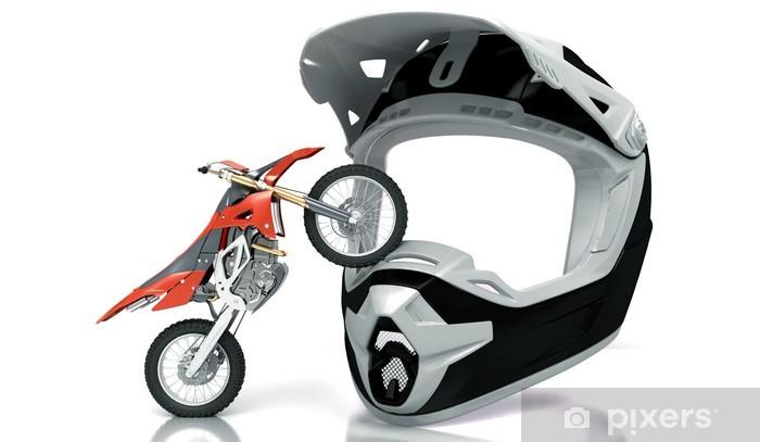 Fototapeta winylowa Kask motocross, enduro wyścig - Fikcyjne zwierzęta