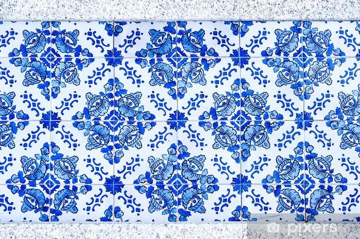 Fototapeta winylowa Rocznika azulejos, tradycyjne portugalskie płytki - Tła