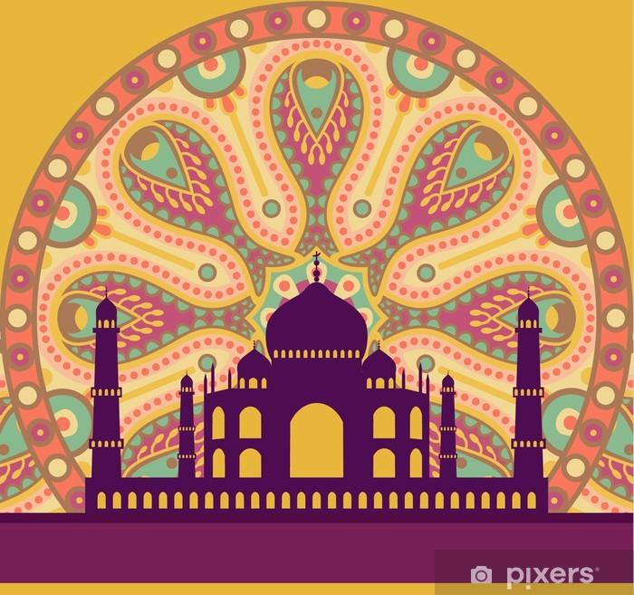Vinylová fototapeta Taj Mahal karta - Vinylová fototapeta