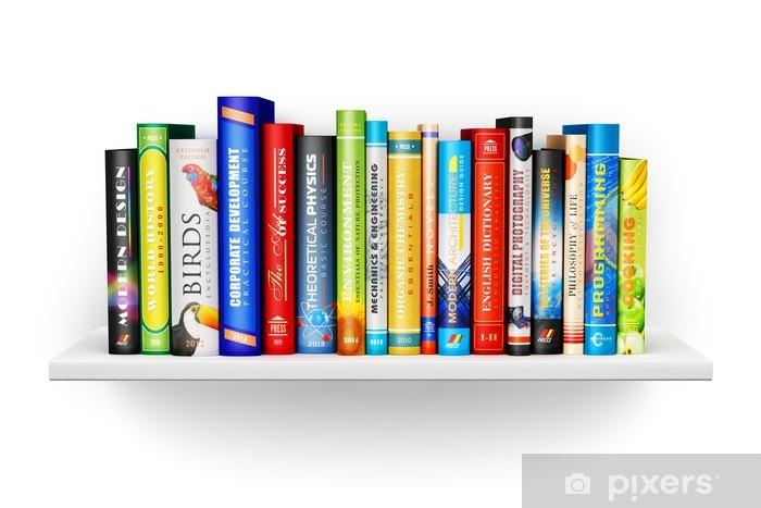 Boekenplank Met Boeken.Fotobehang Boekenplank Met Kleur Hardcover Boeken Pixers We