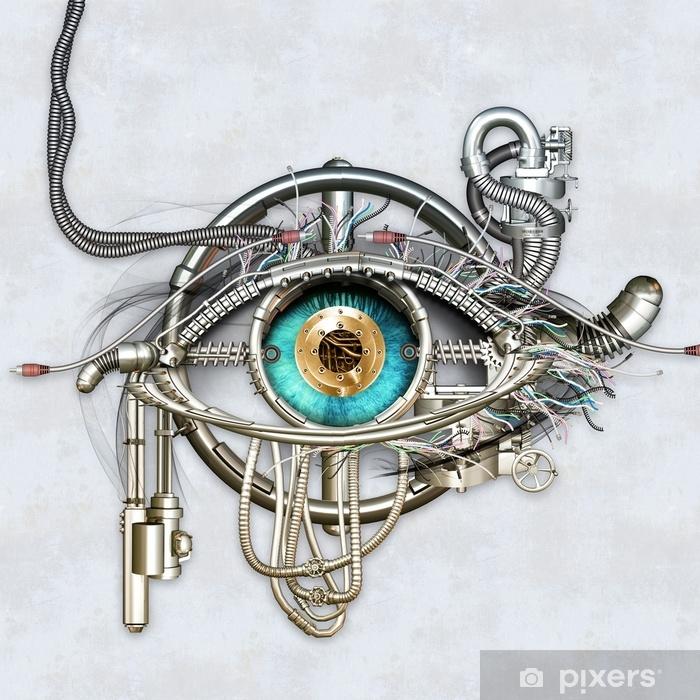 Pixerstick Sticker Mechanisch oog - Industrie