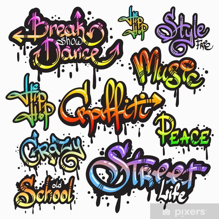 Nálepka Pixerstick Graffiti slovo set - Značky a symboly