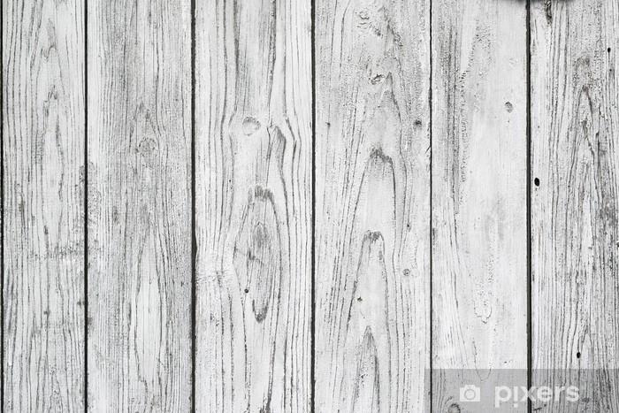 Vinyl-Fototapete Weiß Planken - Themen