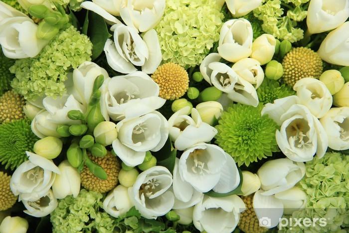 Papier peint vinyle Fleurs de mariage blanc - Célébrations
