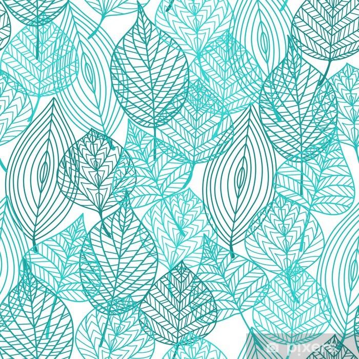 Fototapeta winylowa Liście zielone liście bez szwu deseń - iStaging 2