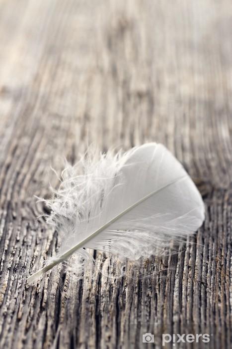 Adesivo Pixerstick Piuma bianca - Casa e Giardino