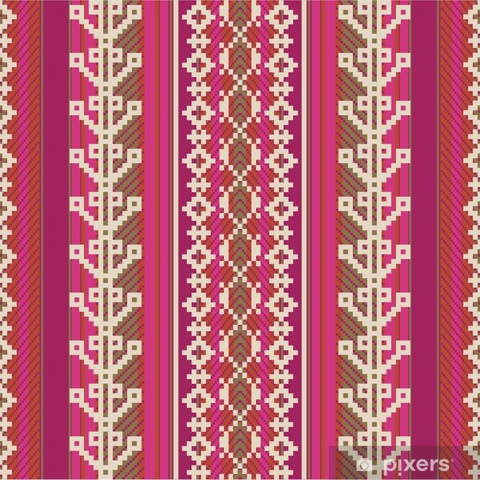 Plakat Textile wzór w stylu etnicznym - Ameryka