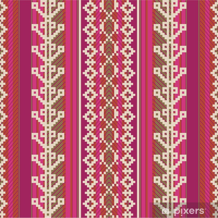 Textile pattern in ethnic style Poster - America