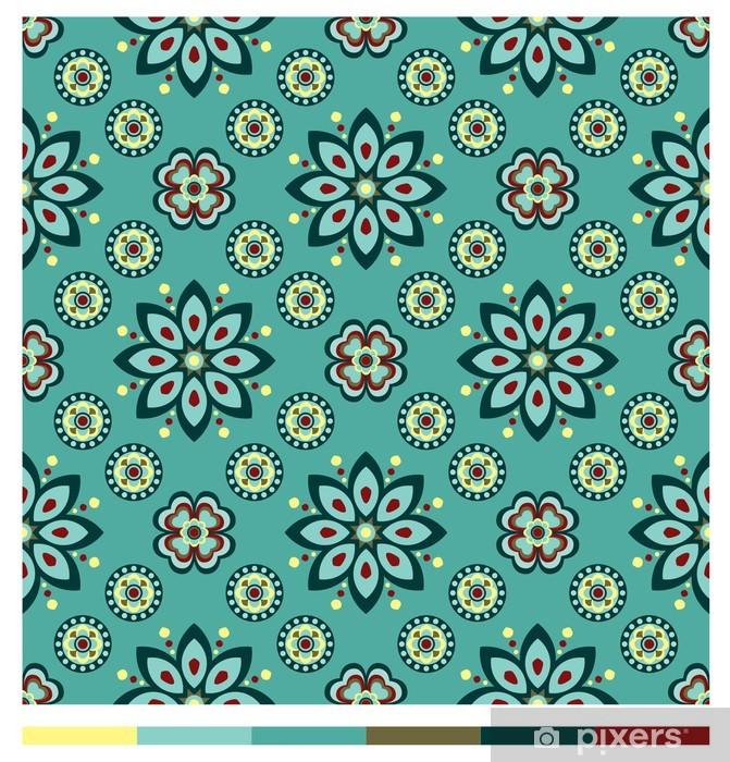 Fotomural Estándar Patrones de papel tapiz sin fisuras - series florales - Artes y creación