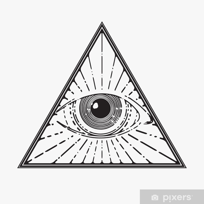 All Seeing Eye Symbol Vector Illustration Wall Mural Pixers