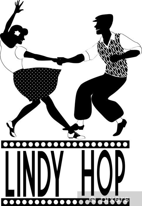 Fototapeta winylowa Lindy hop sylwetka tancerze - Rozrywka