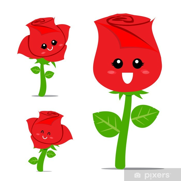 Fototapete Rose Cartoon 001
