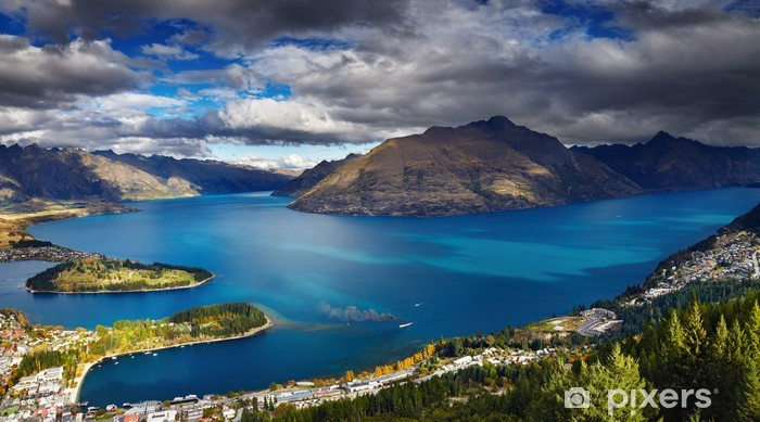 Wakatipu lake, New Zealand Pixerstick Sticker - Themes
