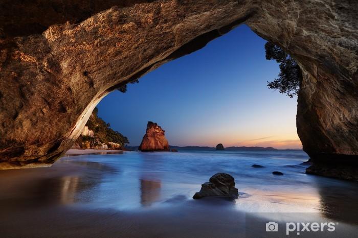 Afwasbaar Fotobehang Cathedral Cove - Nieuw-Zeeland - Thema's