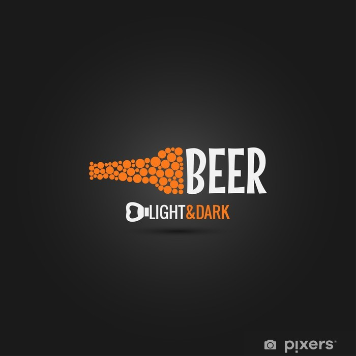 Plakát Pivo otvírák design pozadí - Alkohol