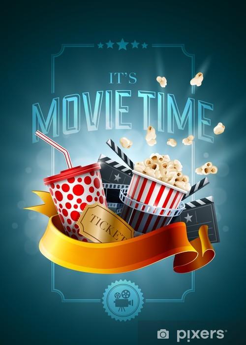 Fotomural Estándar Concepto de la película plantilla de diseño del cartel - Temas